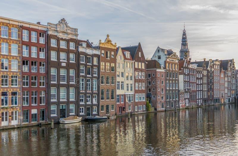 Cudowny Stary miasteczko Amsterdam, holandie zdjęcie royalty free