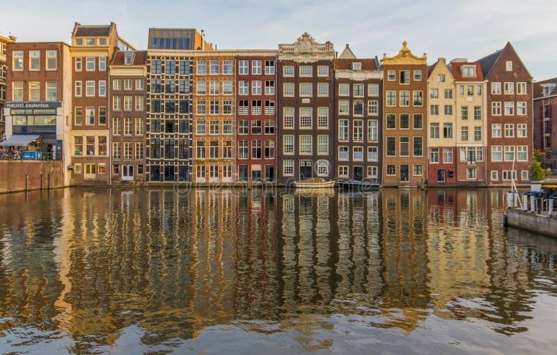 Cudowny Stary miasteczko Amsterdam, holandie obraz royalty free