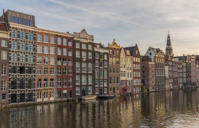 Cudowny Stary miasteczko Amsterdam, holandie zdjęcia stock