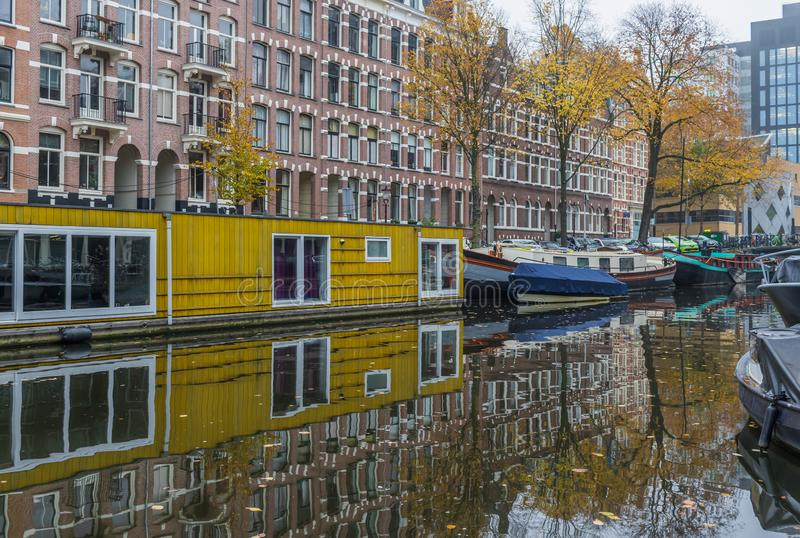 Cudowny Stary miasteczko Amsterdam, Netherland zdjęcia royalty free