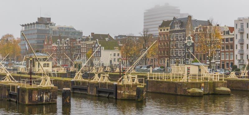 Cudowny Stary miasteczko Amsterdam, Netherland obrazy stock