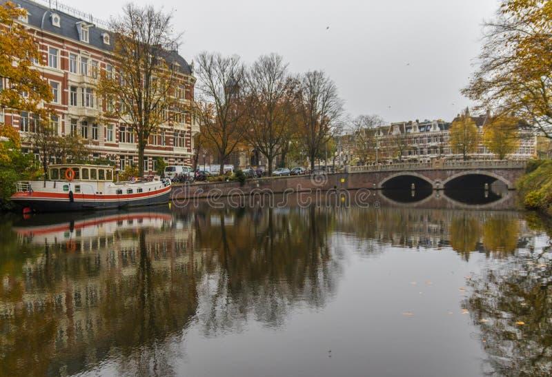 Cudowny Stary miasteczko Amsterdam, Netherland zdjęcie stock