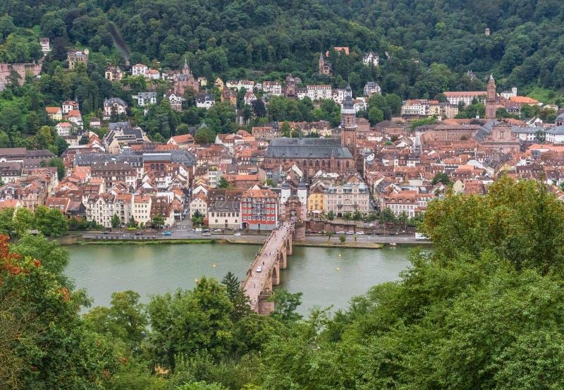 Cudowny Stary miasteczko Heidelberg obrazy royalty free
