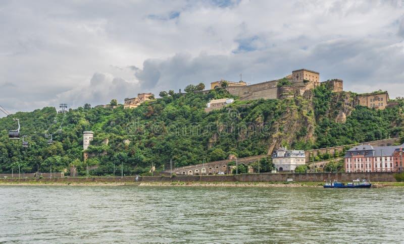 Cudowny Stary miasteczko Koblenz zdjęcie royalty free