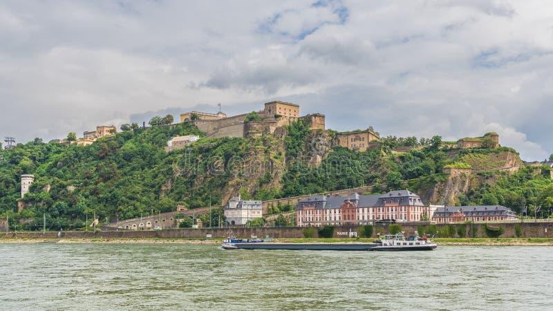 Cudowny Stary miasteczko Koblenz obrazy royalty free