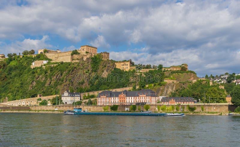 Cudowny Stary miasteczko Koblenz obraz royalty free