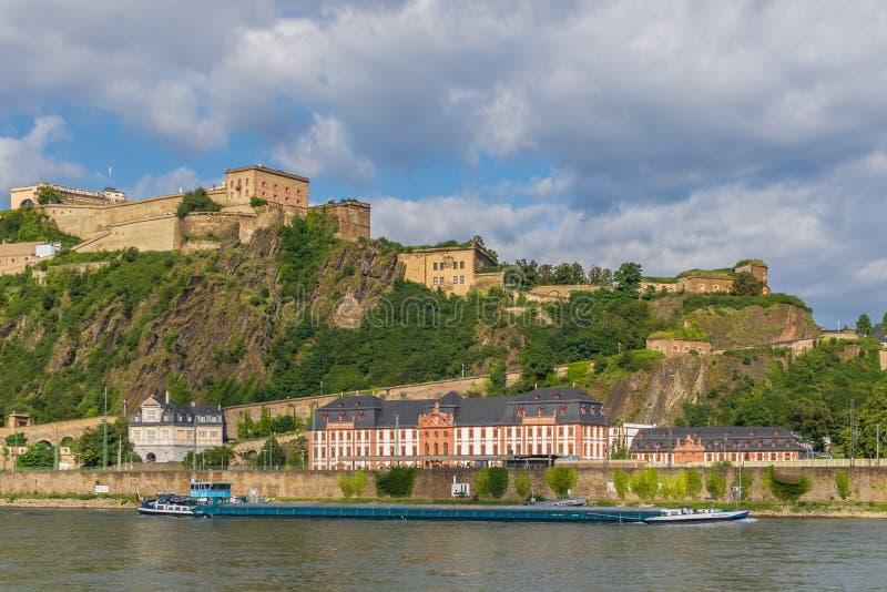 Cudowny Stary miasteczko Koblenz fotografia royalty free