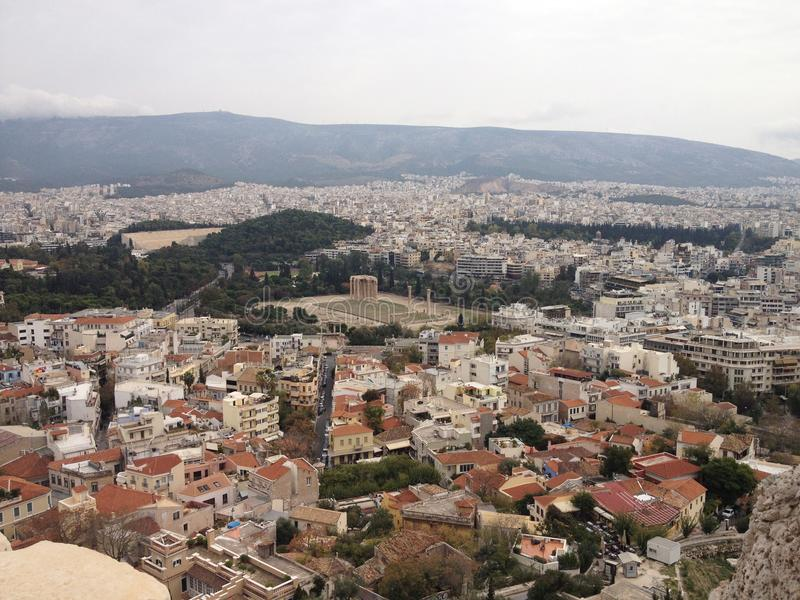 Cudowny widok na Ateny mieście fotografia stock