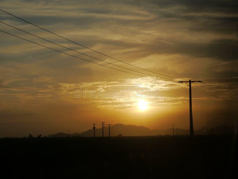 cudowny zachód słońca zdjęcie royalty free