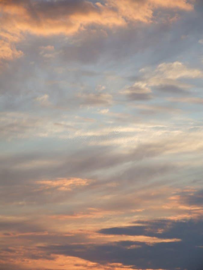 cudowny zachód słońca niebo fotografia stock
