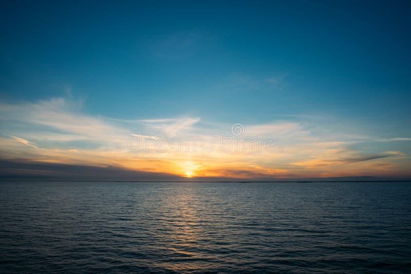 Cudowny zmierzch nad morzem bałtyckim obraz stock