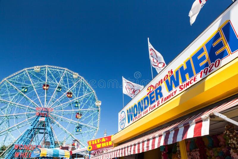 Cudu koło, Coney Island, Nowy Jork obrazy royalty free