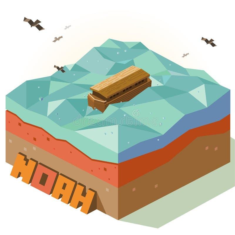 Cudu Noah łuk royalty ilustracja