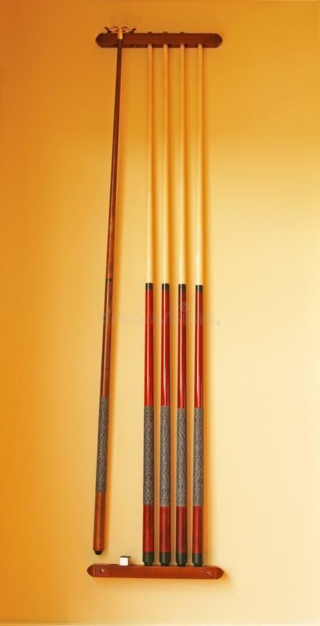 Cue Sticks stock photography