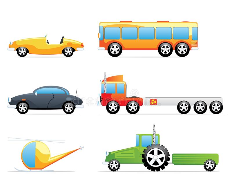 Download Cue transportation icons stock vector. Illustration of realistic - 25306027