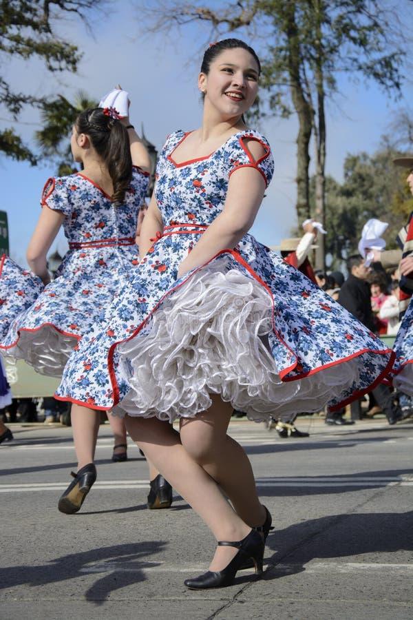 Cueca Chilena, dança tradicional foto de stock royalty free