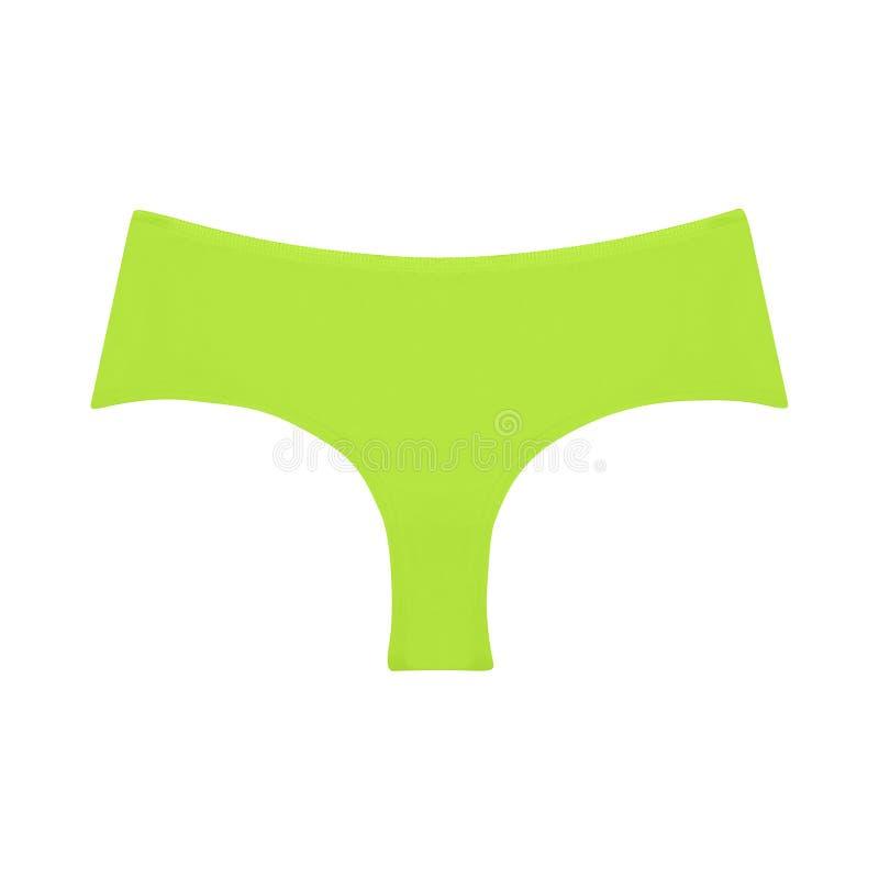 A cuecas do algodão do ` s das mulheres islated no branco foto de stock royalty free