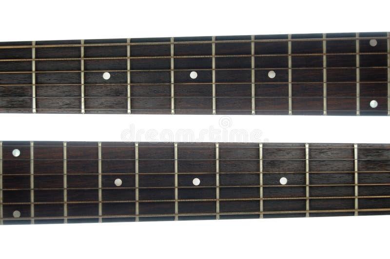 Cuello de la guitarra fotografía de archivo