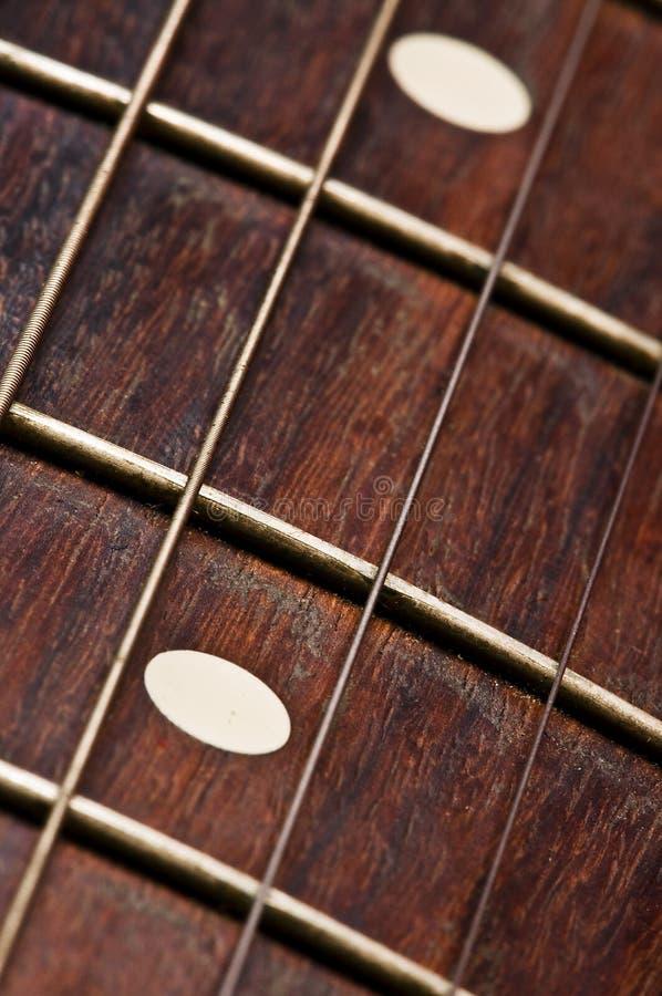 Cuello de la guitarra eléctrica foto de archivo