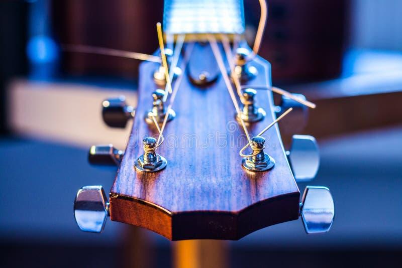 Cuello de la guitarra Imagen macra imagen de archivo libre de regalías