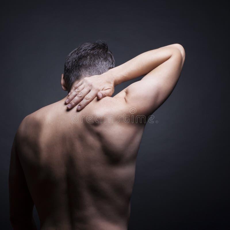 Cuello del dolor fotos de archivo