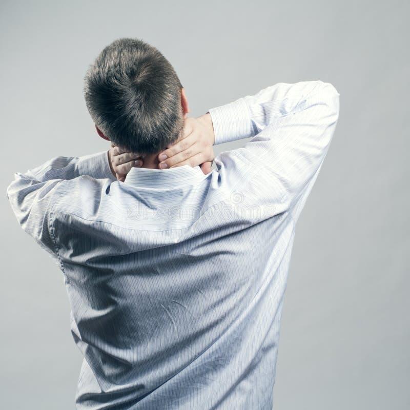 Cuello del dolor foto de archivo