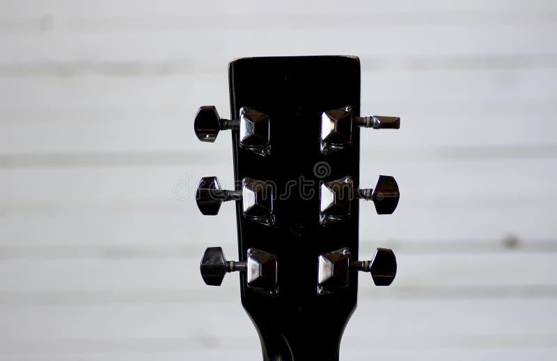 Cuello negro de la guitarra foto de archivo