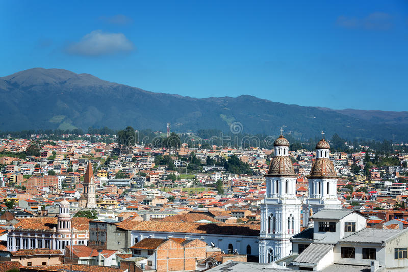 Cuenca, Cityscape van Ecuador stock fotografie