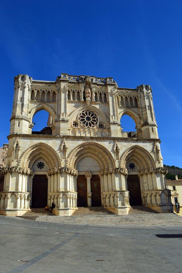 Cuenca domkyrka - den första gotiska domkyrkan i Spanien arkivfoton