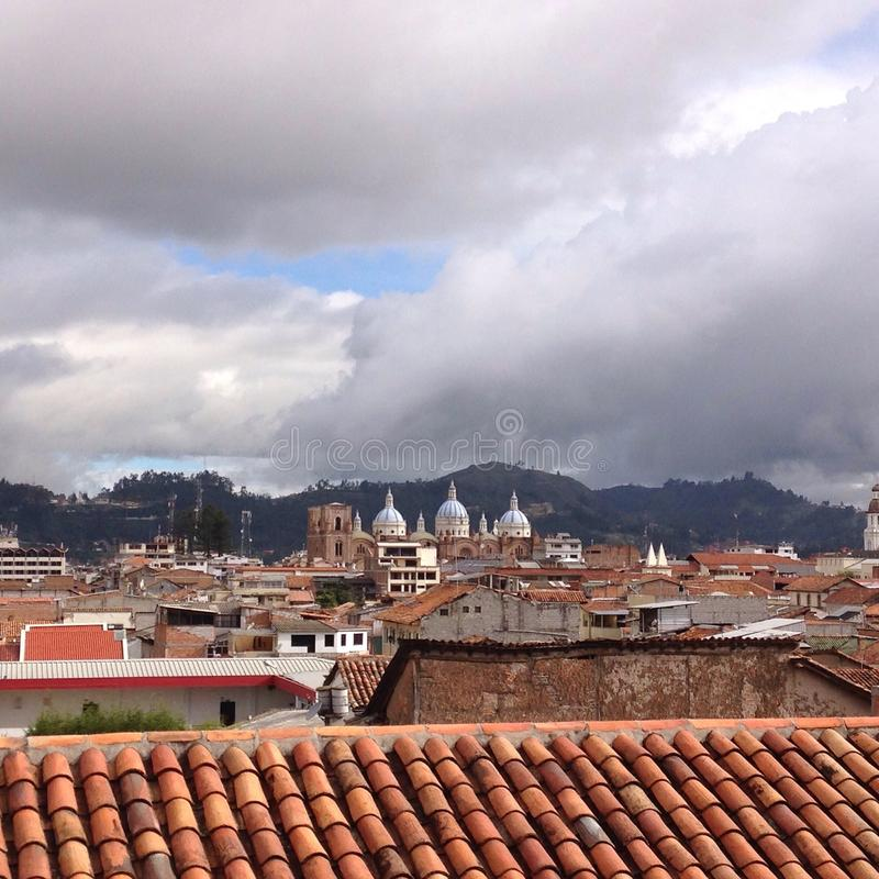 Cuenca down town area royalty free stock image