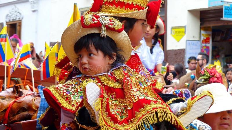 Cuenca, Ecuador Parade Paseo del Nino en la Navidad fotografía de archivo libre de regalías