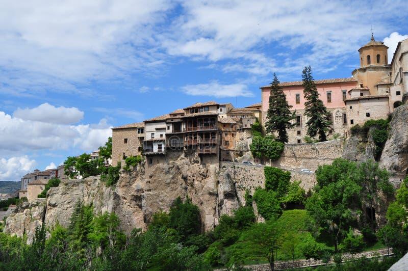 Cuenca hangende huizen royalty-vrije stock afbeeldingen