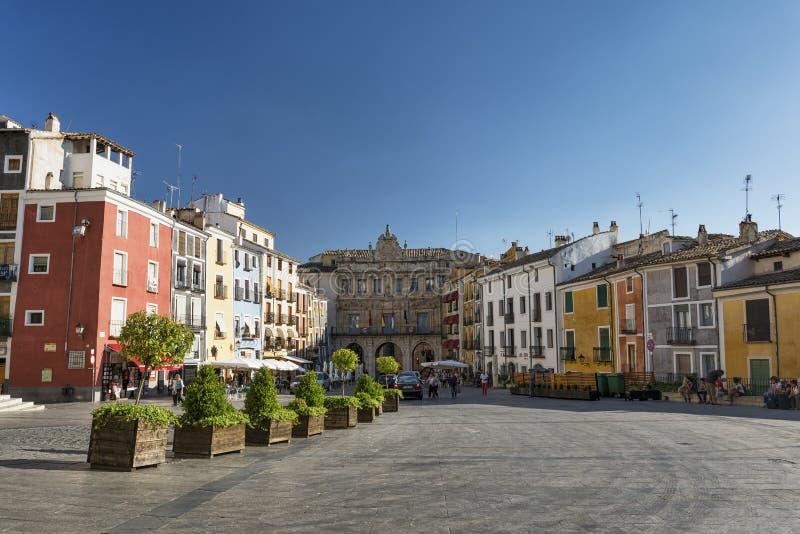 Cuenca Spanje, kathedraalvierkant stock fotografie