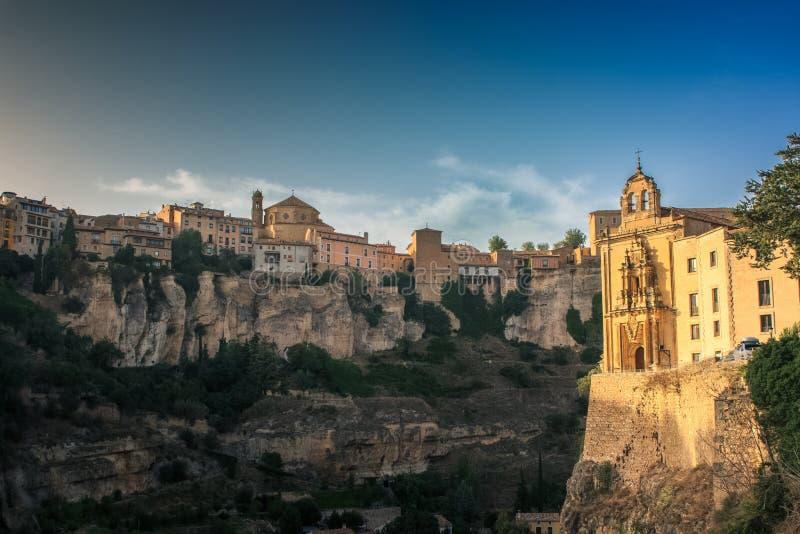 Cuenca stadssikt, Spanien arkivbild