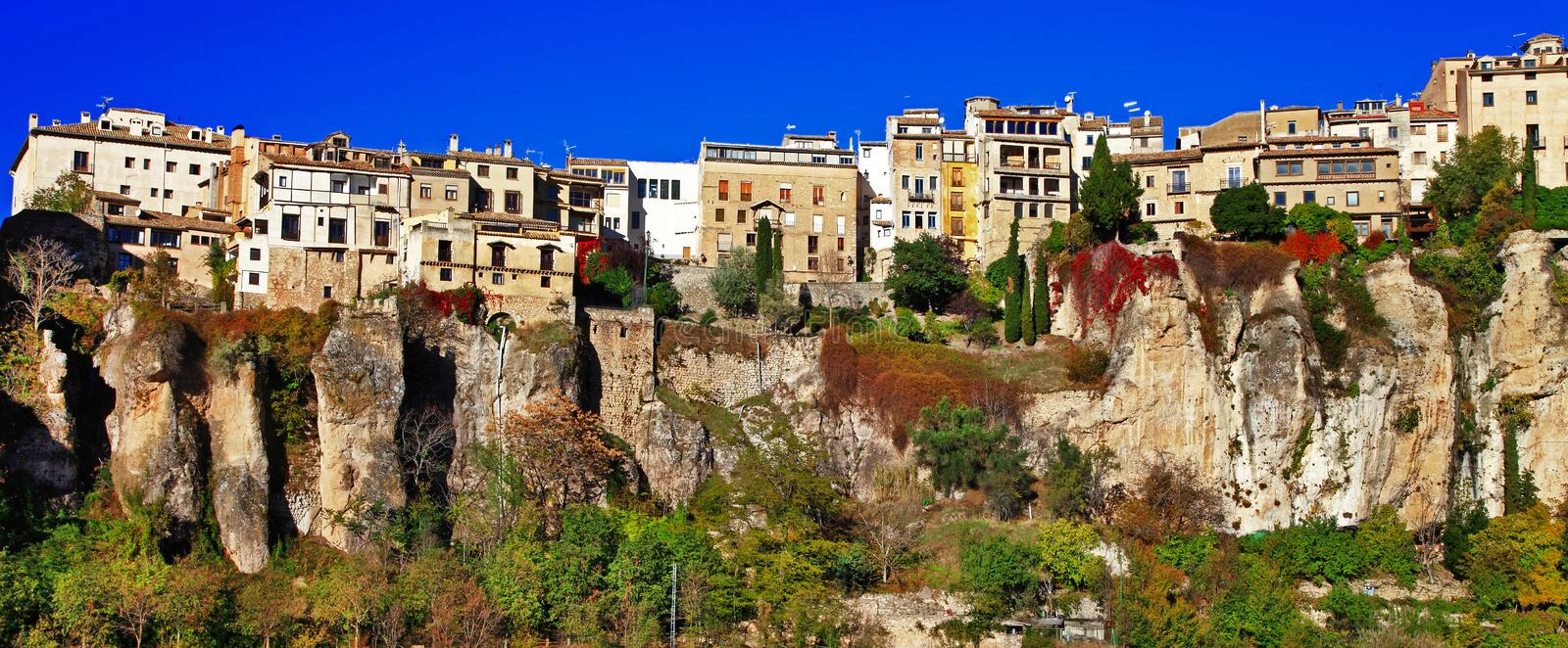 Cuenca. town on clifs. Spain royalty free stock image