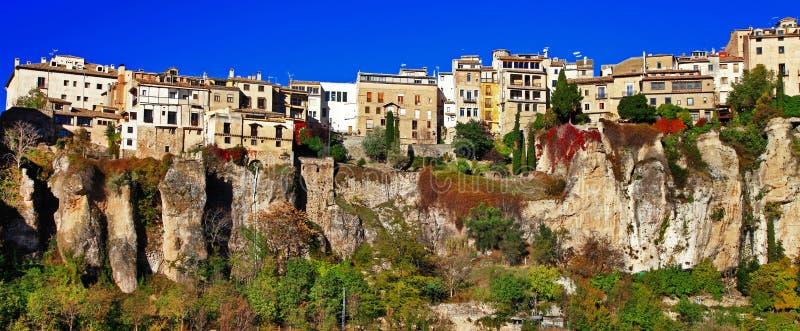 Cuenca. ville sur des clifs. Espagne image libre de droits