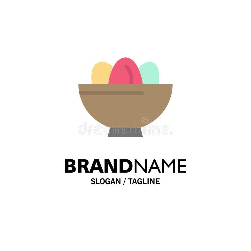 Cuenco, celebración, Pascua, huevo, negocio Logo Template de la jerarquía color plano libre illustration