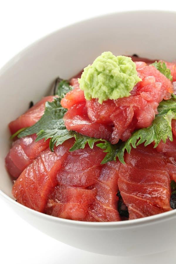 Cuenco de arroz japonés del atún imágenes de archivo libres de regalías