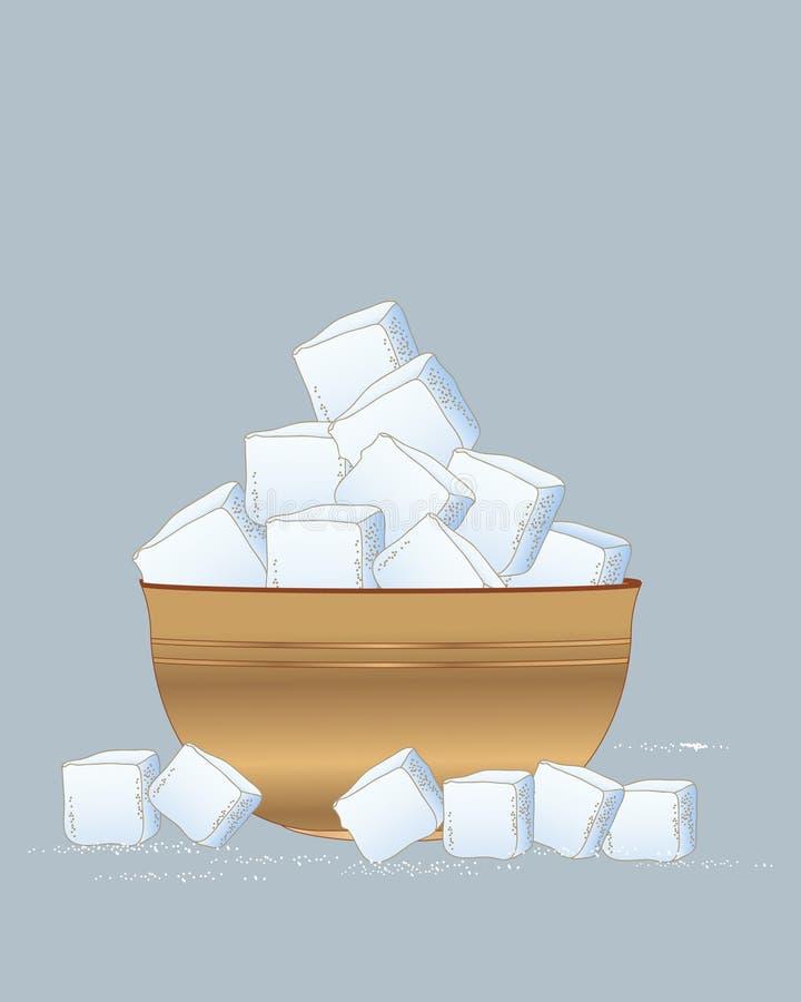 Cuenco de azúcar de madera libre illustration