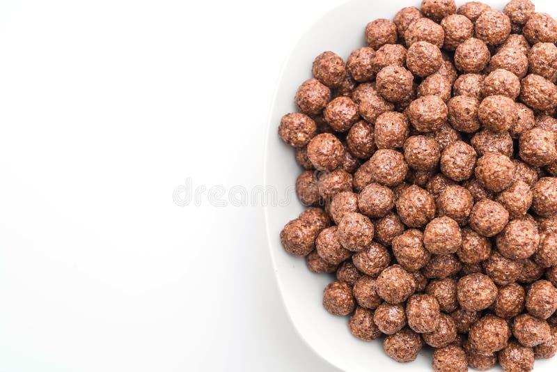cuenco de cereal del chocolate foto de archivo libre de regalías