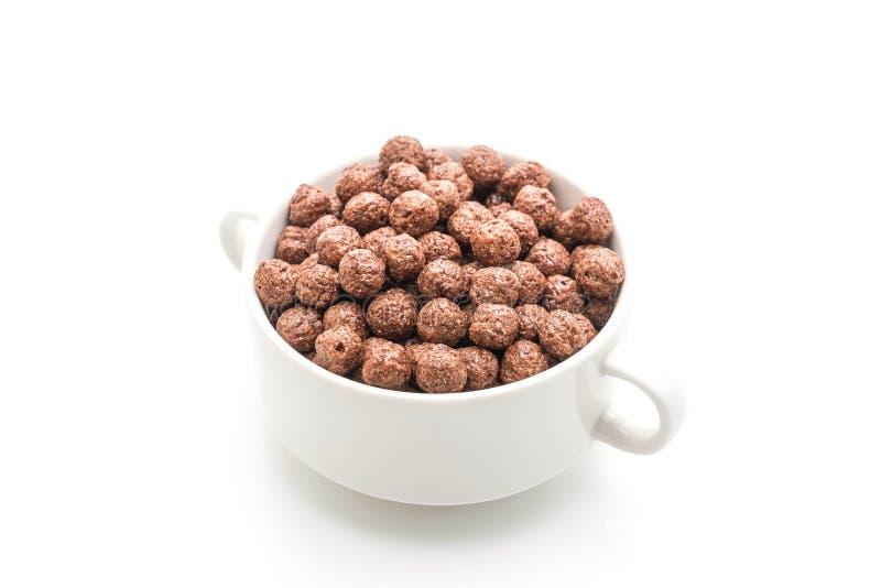 cuenco de cereal del chocolate fotos de archivo libres de regalías