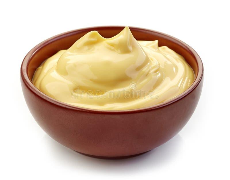 Cuenco de mayonesa fotografía de archivo libre de regalías