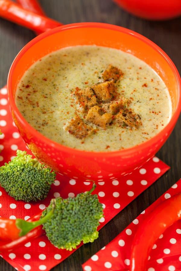 Download Cuenco De Pimienta De Chile Y De Sopa Del Bróculi Imagen de archivo - Imagen de sano, delicioso: 41912989