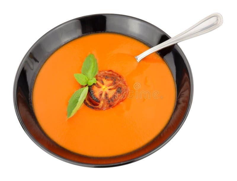 Cuenco de sopa del tomate foto de archivo libre de regalías
