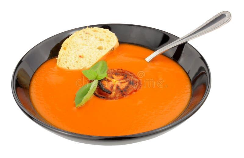Cuenco de sopa del tomate imágenes de archivo libres de regalías