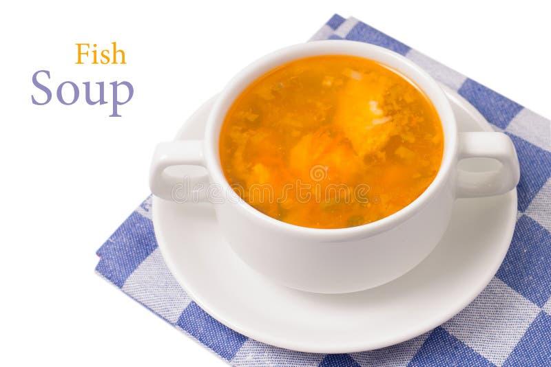 Cuenco de sopa en el fondo blanco imagen de archivo
