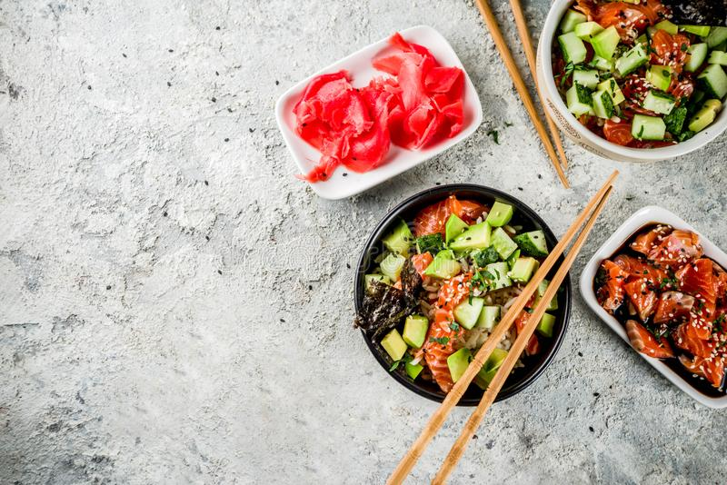 Cuenco del empuje del sushi fotografía de archivo libre de regalías