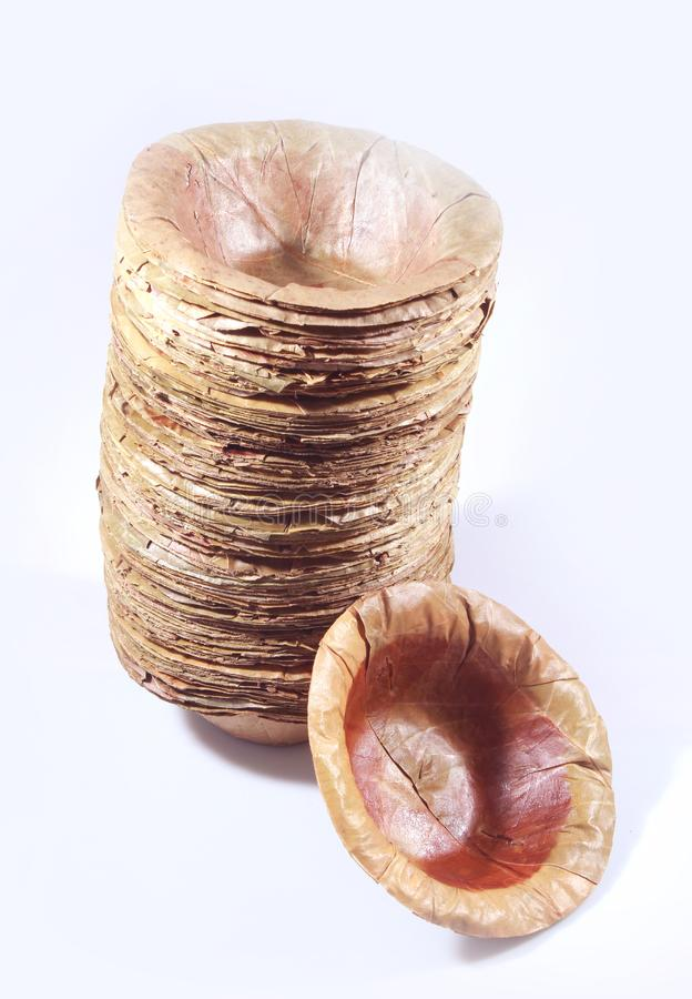 Cuenco indio tradicional de la hoja con el manojo imagen de archivo libre de regalías