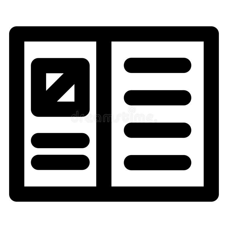 Cuenta, blog bold vector icono que puede modificarse o editarse fácilmente libre illustration