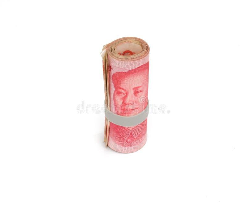 Cuenta china del rmb del yuan de la moneda aislada fotografía de archivo libre de regalías